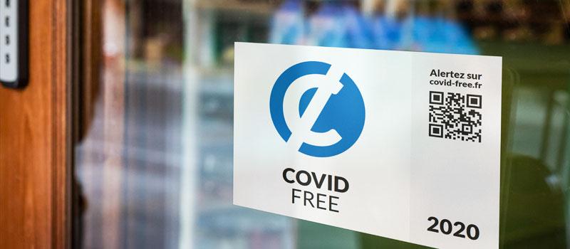 Label COVID-FREE